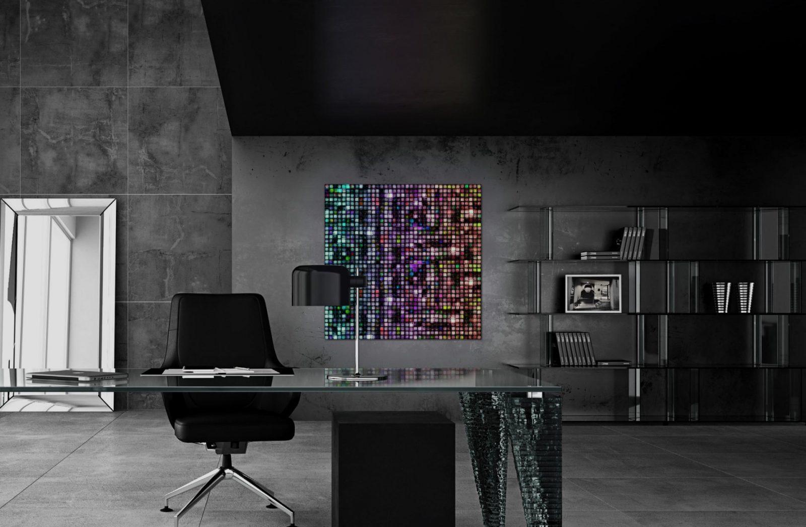 volatiles Büro Mosaik Wand
