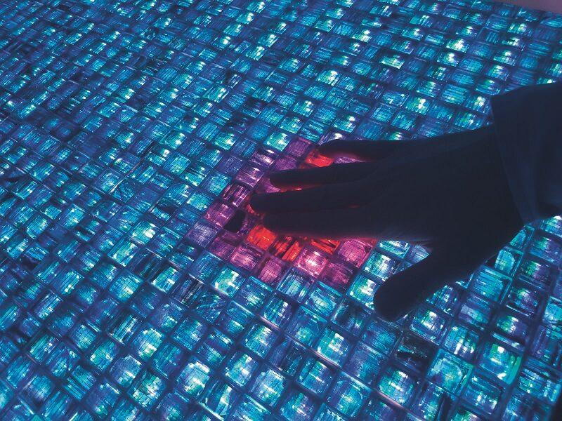 digitale glasmosaiksteine - touch light